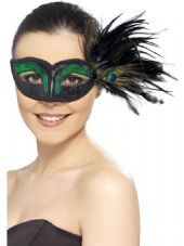 Colombina Peacock Feather Eye Mask